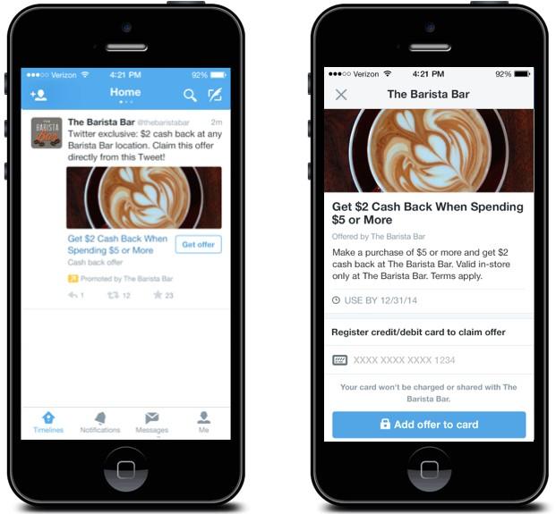 Twitter presenta Twitter Offers: descuentos online para pequeños comercios offline